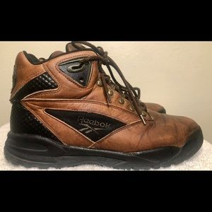 Vtg 90s Reebok Hiking Boots 10US Brown Leather